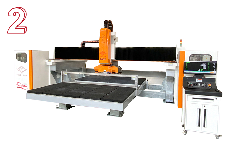 Sawing Machine with Double Worktables (263T CNC 5 Axis )